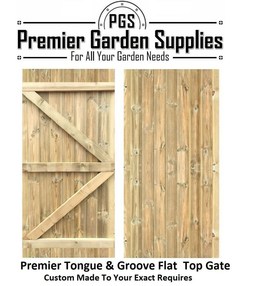 Bespoke Custom Made To Measure Wooden Garden Gate Tongue Amp Groove Flat Top Wooden Garden Gate Wrought Iron Driveway Gates Garden Gates
