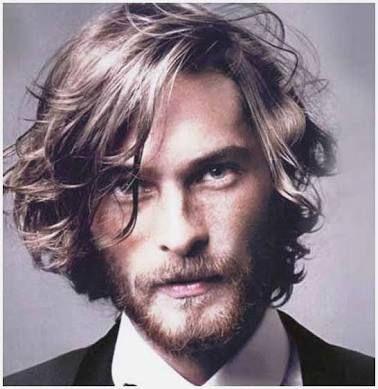 mens mid length wavy hair  google search  long hair
