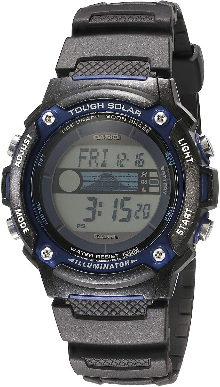 Casio Ws210h 1avcf Solar Power Tide Graph 100m Wr Model Eaw W S210h 1av In 2021 Casio Watches For Men Casio G Shock Watches