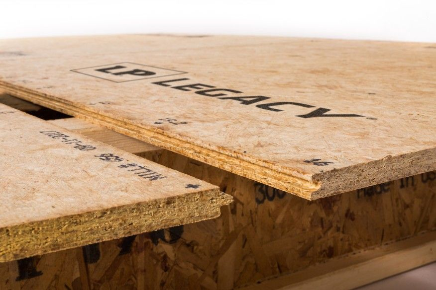 The Tongue And Groove Sides Of Lp Legacy Premium Engineered Sub Floor Are Self Gapping To Provide The Desired 0 0625 I Flooring Floor Installation Custom Homes