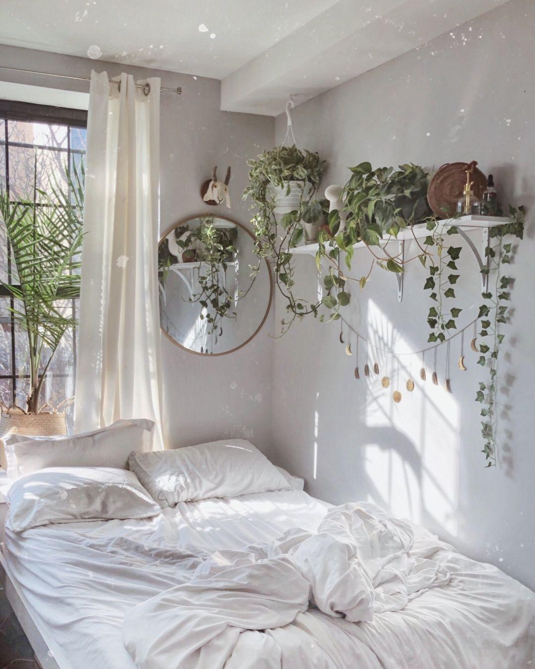 Dreamy Bedroom Full Of Plants Opulentmemory Beautiful Bedroom Decor Bedroom Decor Room Ideas Bedroom