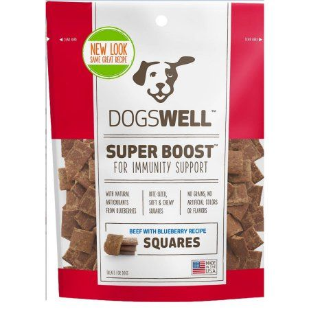 Dogswell Super Boost Squares Beef With Blueberry Recipe Dog Treats