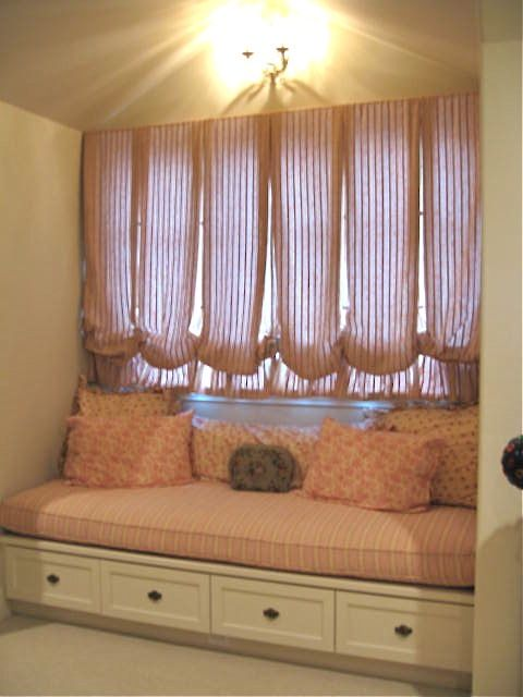 Window Seat Curtains bedroom window seat | pretty billowy curtains allow the sun to