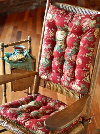 Chair Pad Sets Patterned Rocking Chair Cushions With Ties