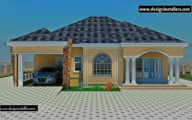 4 Bedroom Bungalow Plan In Nigeria 4 Bedroom Bungalow House Plans Nigerian  Design | Hot | Pinterest | Bungalow, Exterior Design And Bedrooms