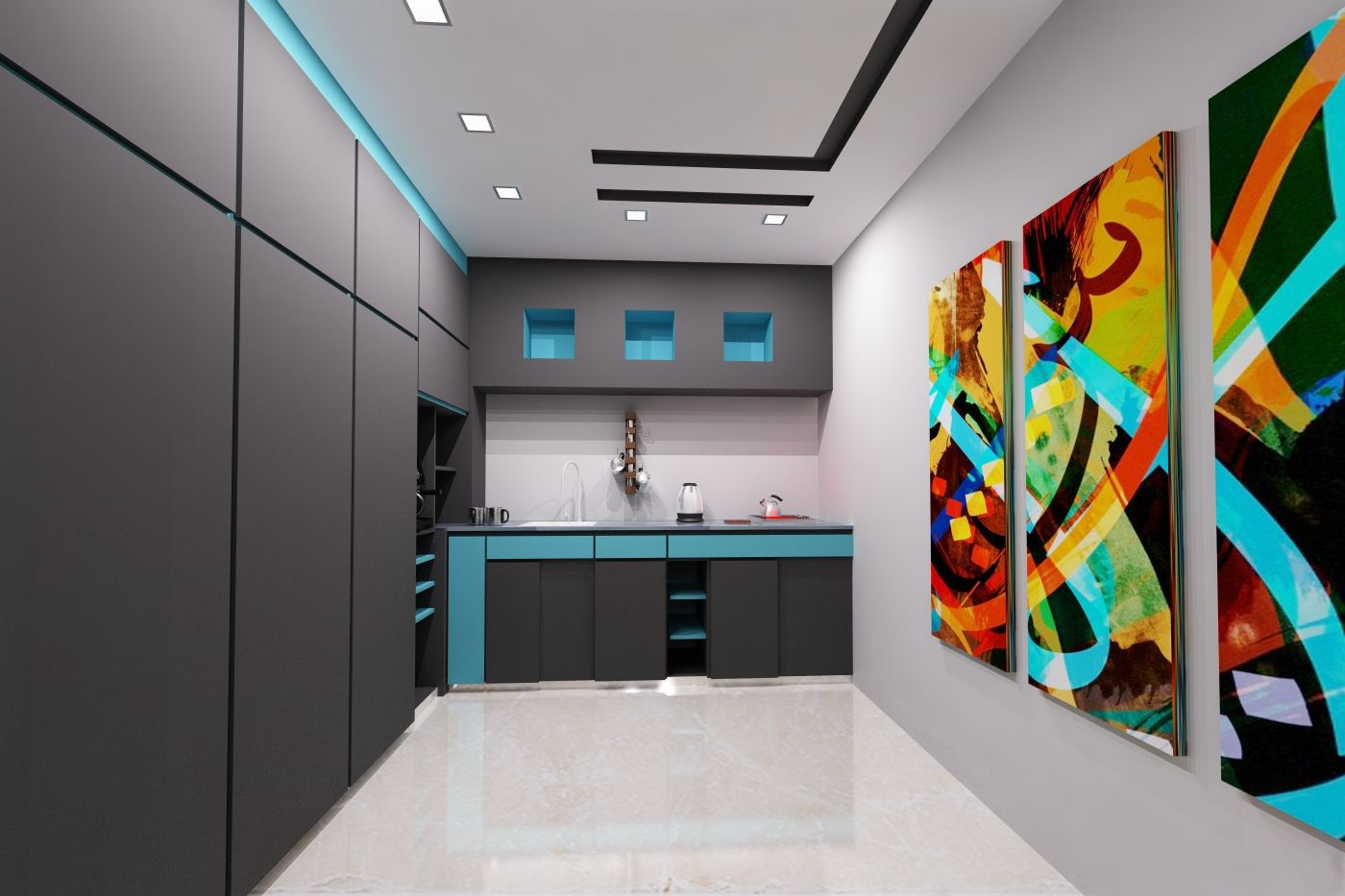 Al Arab Newspaper In Cairo Interior Design Kitchen By Remal Architects Architect