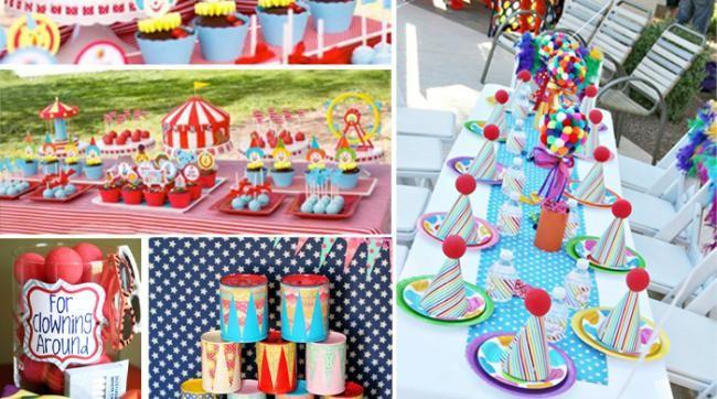 jeux anniversaire theme cirque