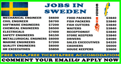 Recruitment To Sweden Apply Now Hurry In 2020 Driver Job How To Apply Sweden