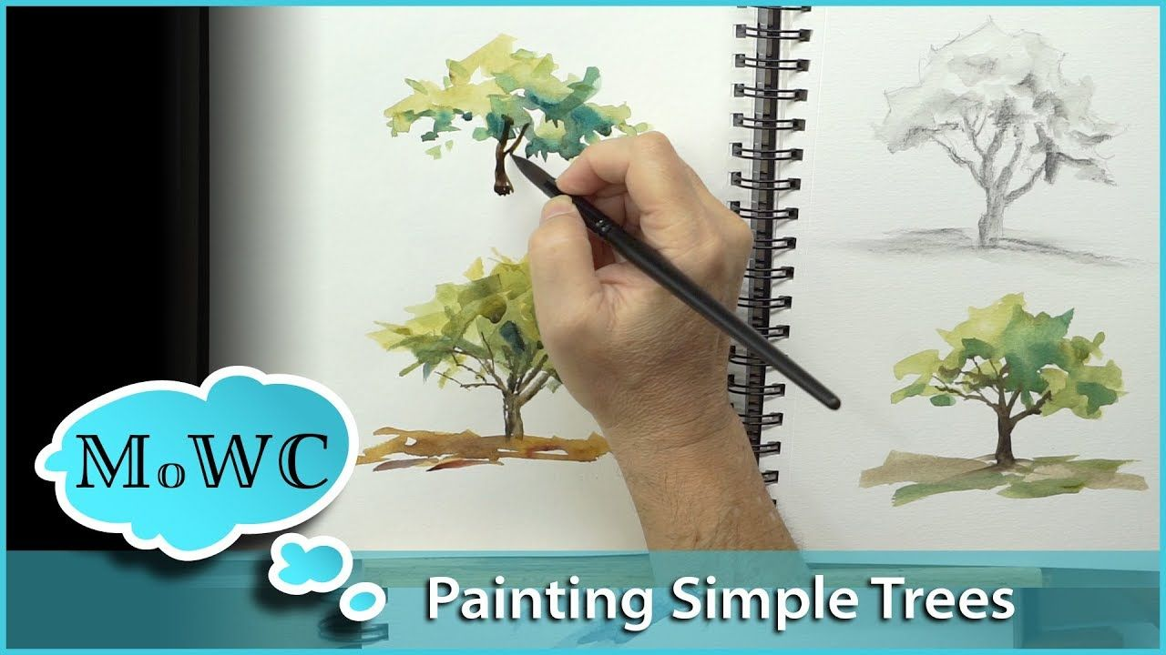 Easy Watercolor Painting Tree With Fall Colors Fall Tree