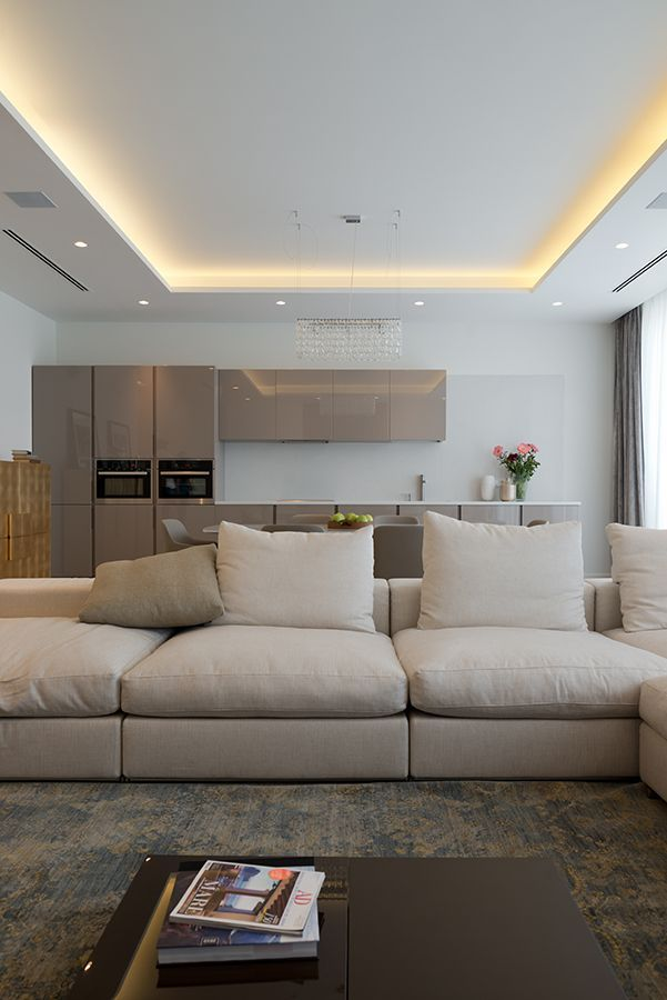 led light for living room. Indirect lighting in tray or coffered ceiling  high output led tape light