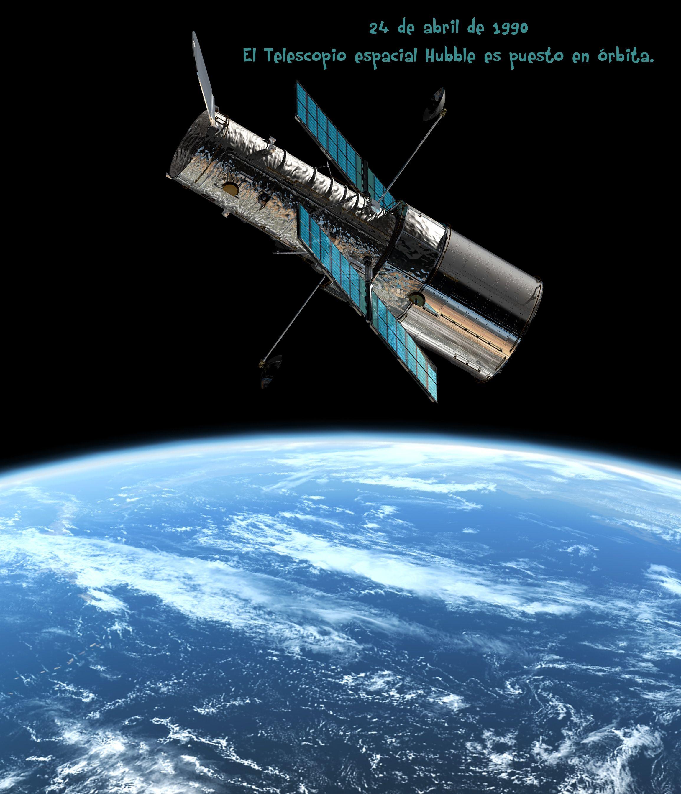 24 de abril de 1990    El telescopio Hubble es enviado al espacio.