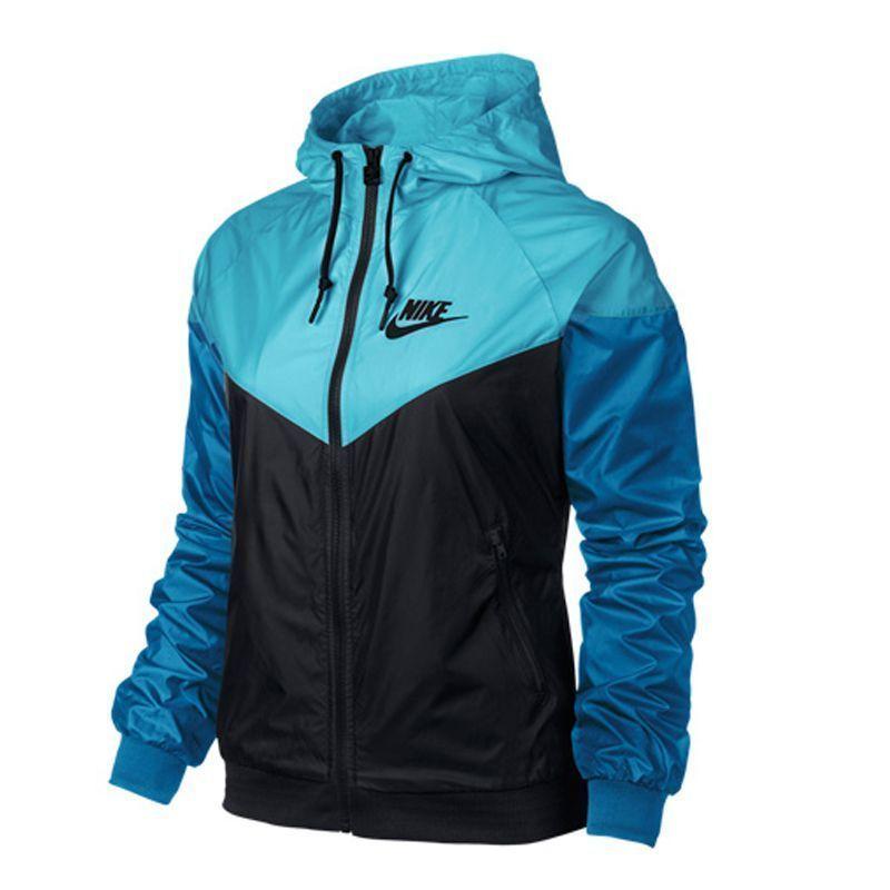 Nike WindRunner Womens Jacket Windbreaker Hoodie Blue Black