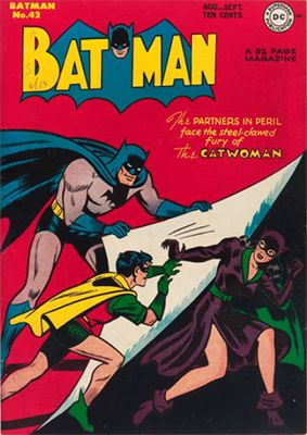 Batman #42, New Look for Catwoman, First Batman Cover Appearance. Click for value