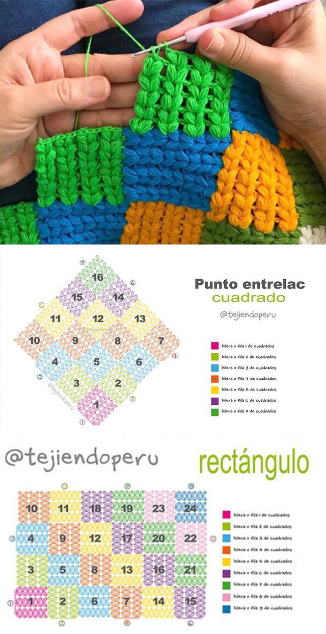 Interlaced Braid Stitch Crochet Pattern | Pinterest | Ganchillo ...