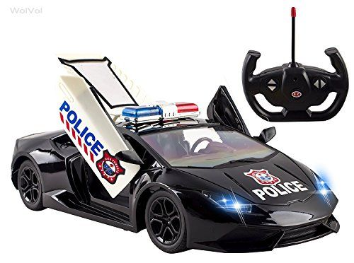 Wolvol Fast Forward 5 Channel Remote Control Police Car Toy For Kids With Front Lights Remote Controlled Opening Doors Toys 4 My Kids Toys For Boys 8 Year Old Boy Toy Car