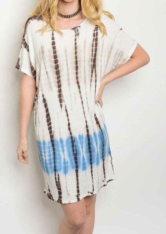 4bd8c3c504 Comfort Luxe Dress Soft Jersey Knit TieDye Print Fashion Lounge Dress Sz  6-12 | eBay