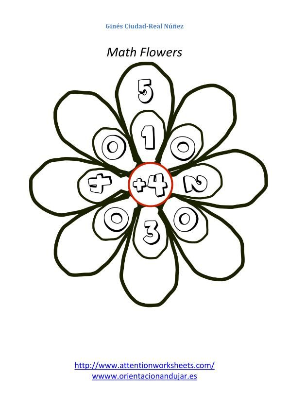 Math is Fun-Math flowers for addition basic level-1 images_13 ...