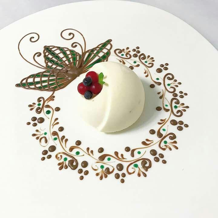 Chef baran cr ation desserts en assiettes pinterest - Decoration assiette dessert ...