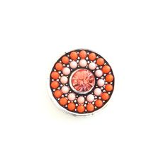ORANGE AND PINK BEADED JEWEL SNAP JEWEL $6.95 http://www.sparklyexpressions.com/#1019