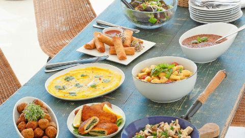 Tavolata mit fleischlosen Gerichten