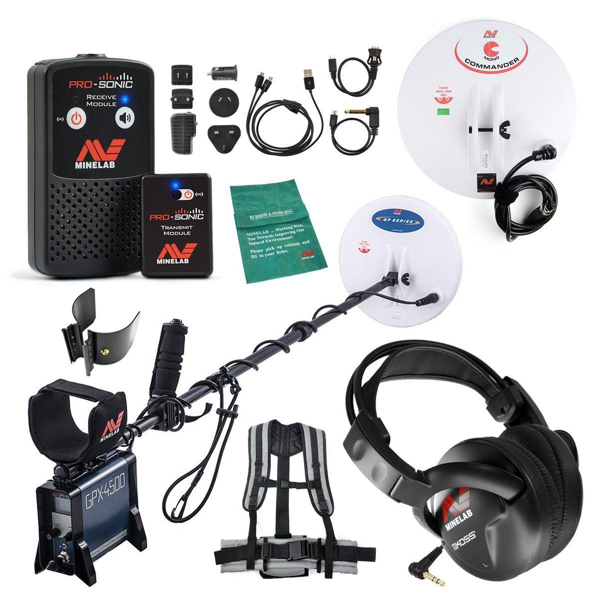 Amazoncom Minelab Gpx 4500 Metal Detector Special With Pro Sonic Module Wireless Audio