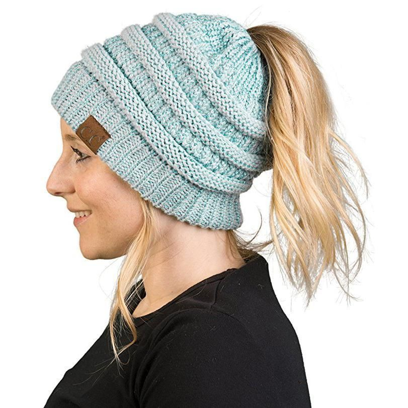 1fa5d2af6f05 Soft Knit Ponytail Beanie in 2018 | Products | Pinterest | Beanie ...