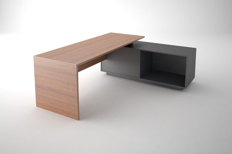 simple office desk. 3Ds Simple Office Desk - 3D Model