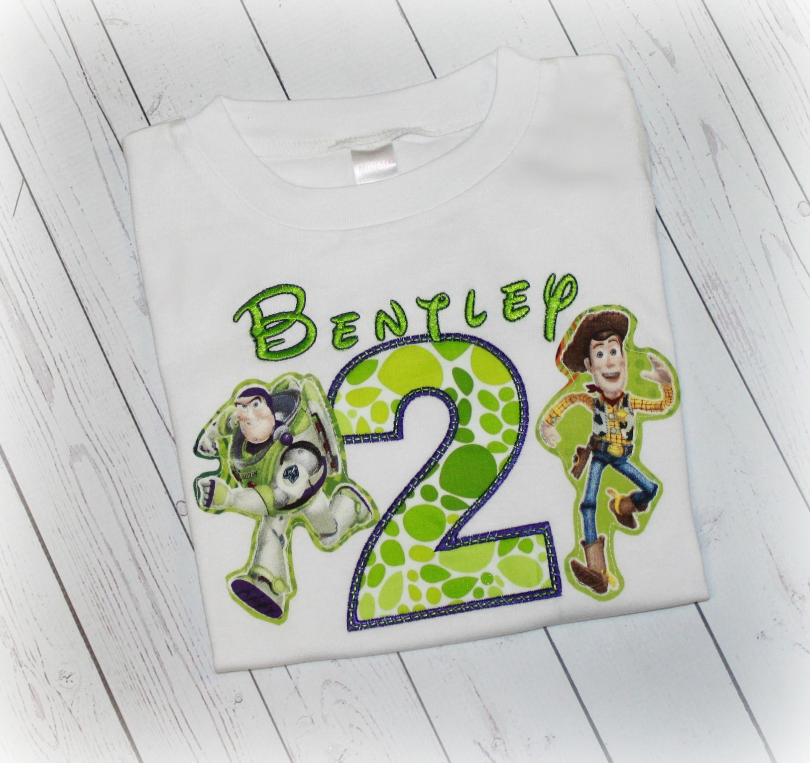 Buzz Amp Woody Toy Story Boys Or Girls Personalized Lime
