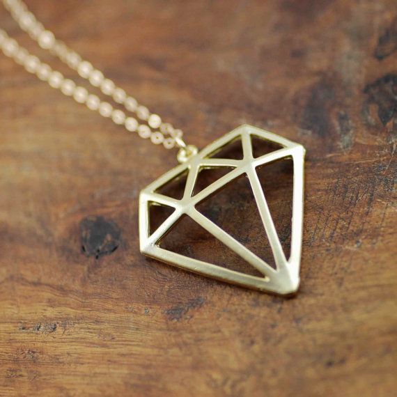 SALE- Was 38.00 Now 19.00 Gold 3D Tattoo Diamond Necklace. $19.00, via Etsy.