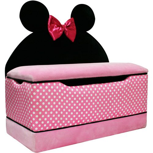 disney minnie mouse large toy box disney toys and baby girls. Black Bedroom Furniture Sets. Home Design Ideas