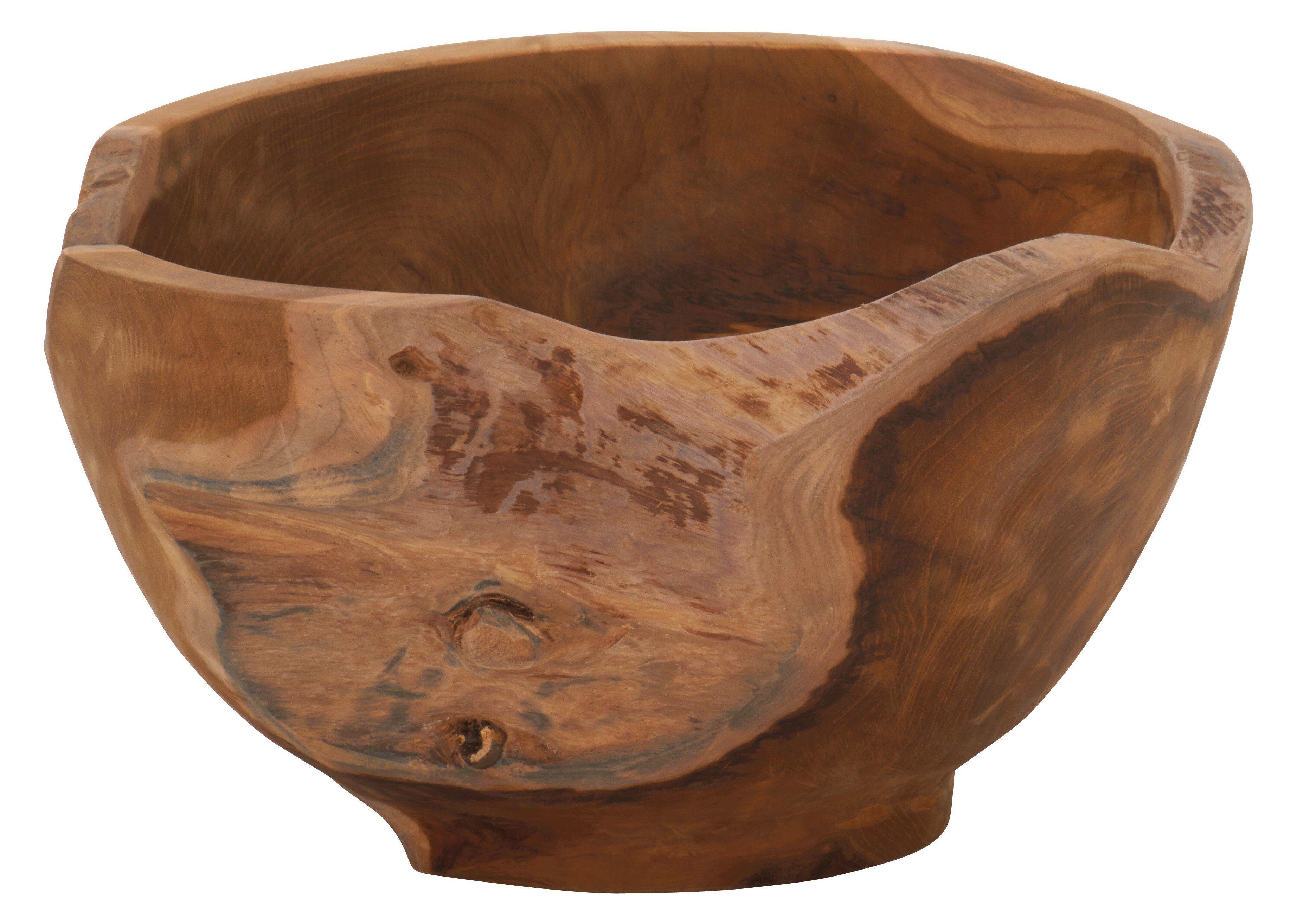 Decmode teak wood decorative bowl 42027