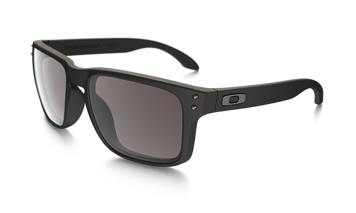 1554814a0e Oakley Holbrook Sunglasses, Grey Smoke Frame/Black Iridium Lens, One Size