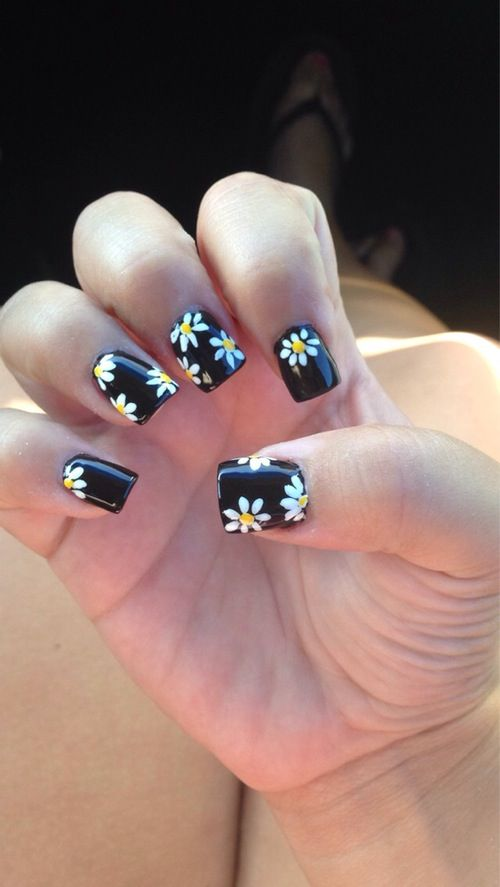 Sunflower Nail Art Design Sunflower Nail Art Sunflower Nails Daisy Nail Art