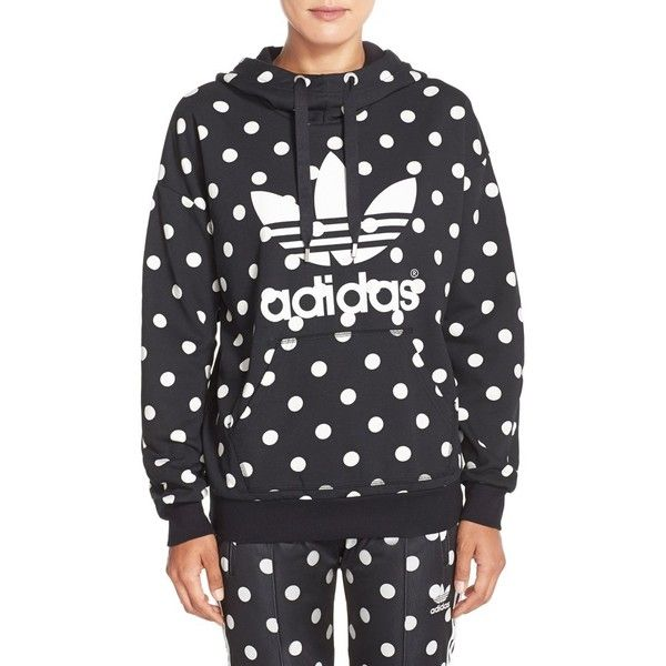 adidas Originals 'Dots All Over' Print Hoodie (204.265 COP) ❤ liked on