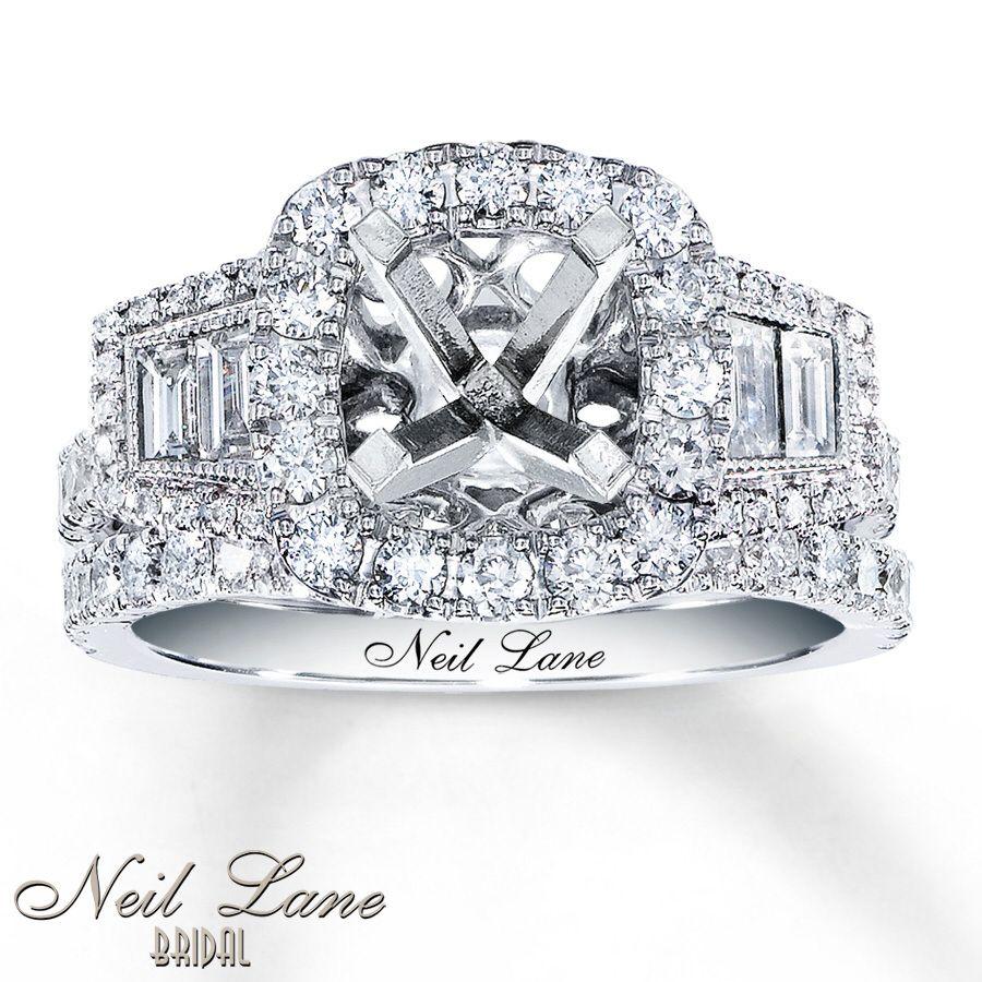 Bridal 1 1 3 Ct Tw Diamonds 14k Gold Bridal Setting By Neil Lane