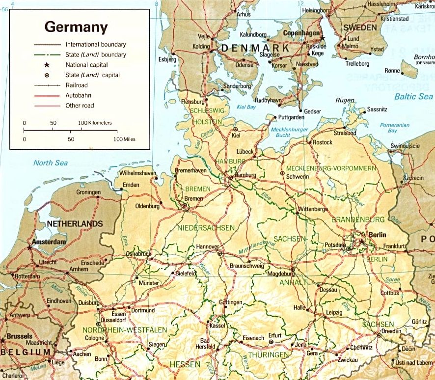Germany North Map Pinterest: Map Of Northern Germany At Slyspyder.com