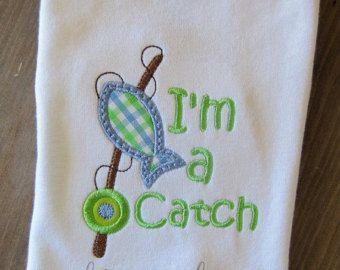 I'm a Catch Fishing Applique