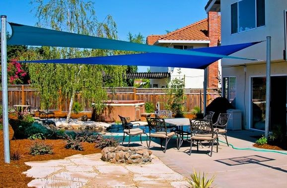 High Quality Backyard Shade Sails   Landscaping Network