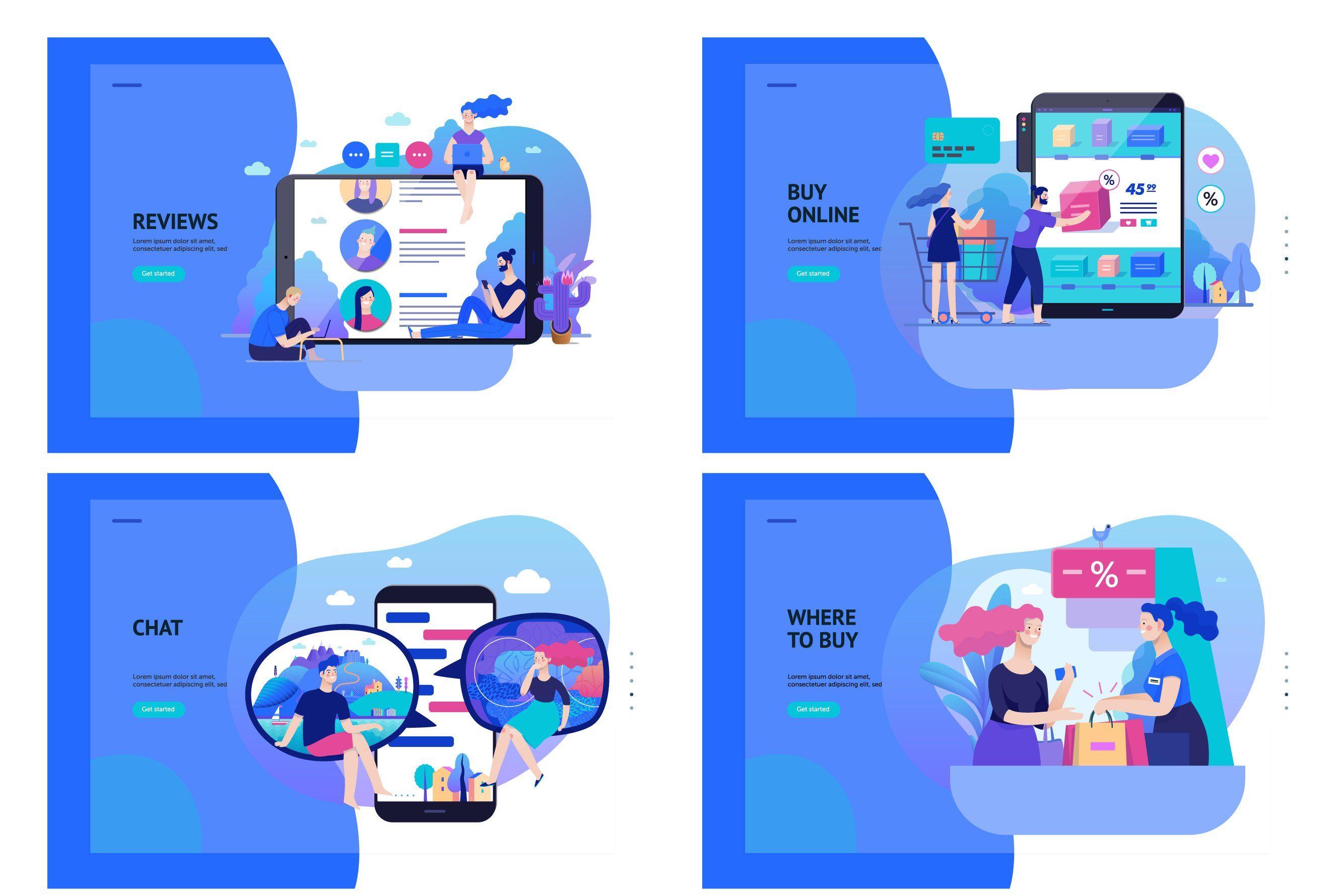 Company website vector Illustrations Vector illustration