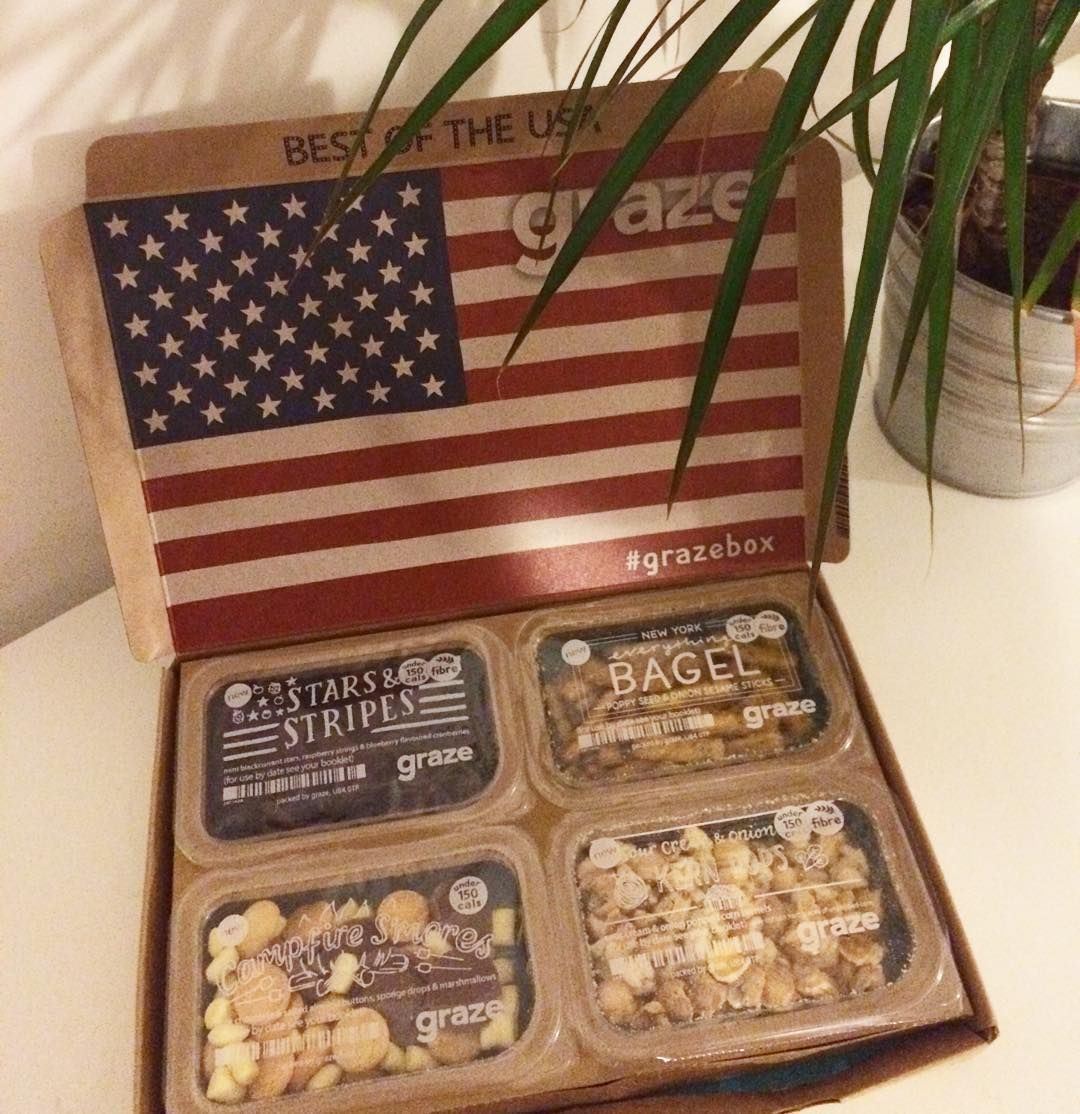 From America to the UK || Guys, introducing the new limited edition Best of the USA Graze box!