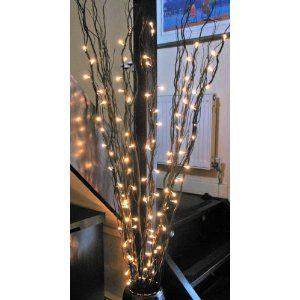 Twig Branch Fairy Lights 100 Bulbs 5ft 152cm Black