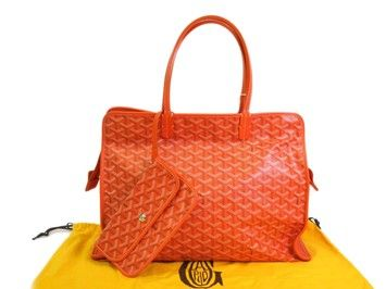 e243e38d1ae19 Get one of the hottest styles of the season! The GOYARD Rd Pm  Canvas leather Orange Tote Bag is a top 10 member favorite on Tradesy.