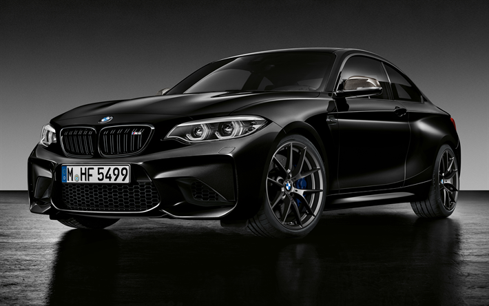 Download wallpapers BMW M2 Black Shadow Edition, 4k, 2018