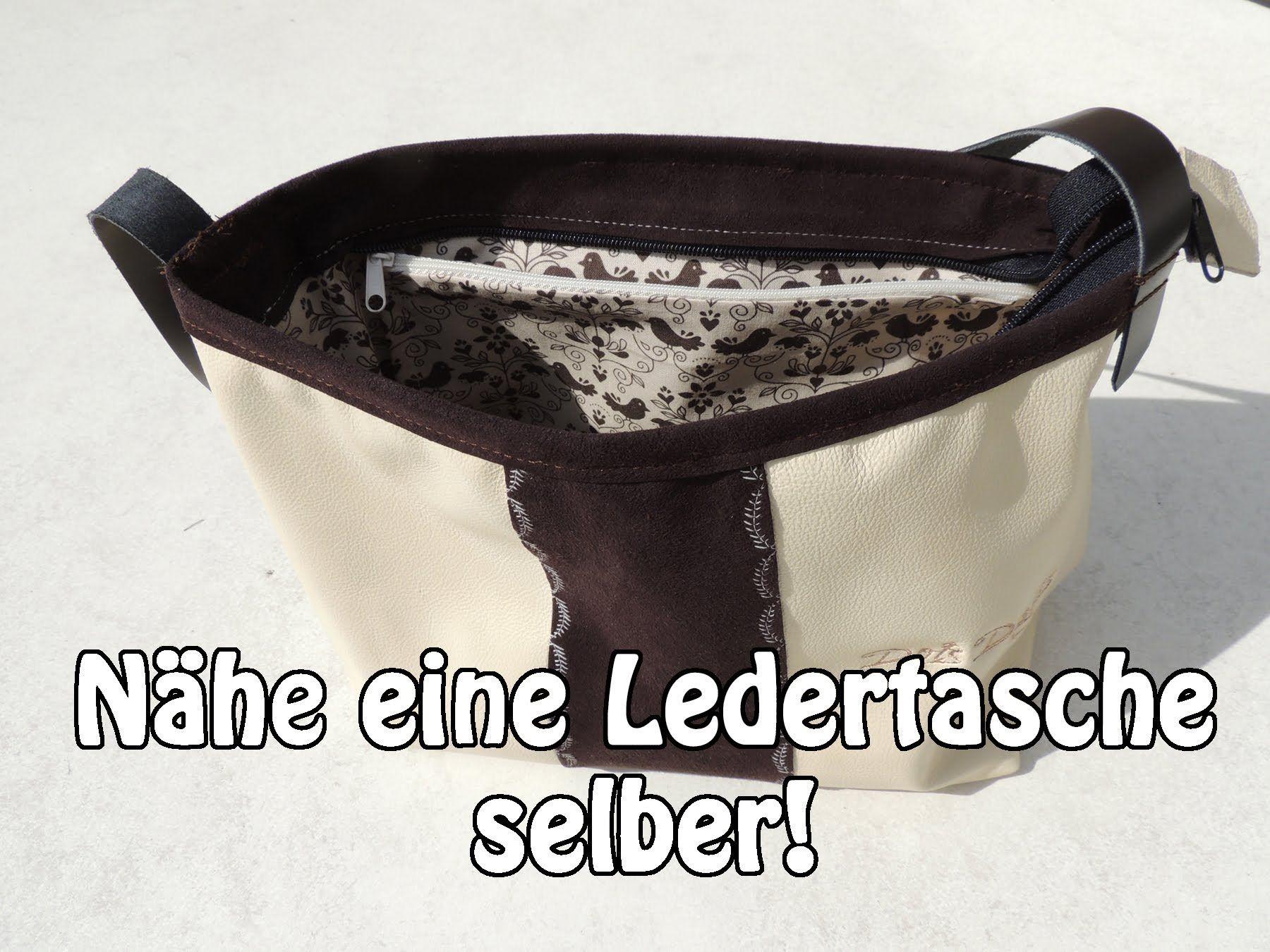 DIY | Ledertasche Handtasche selber nähen | Nähen für Anfänger ...