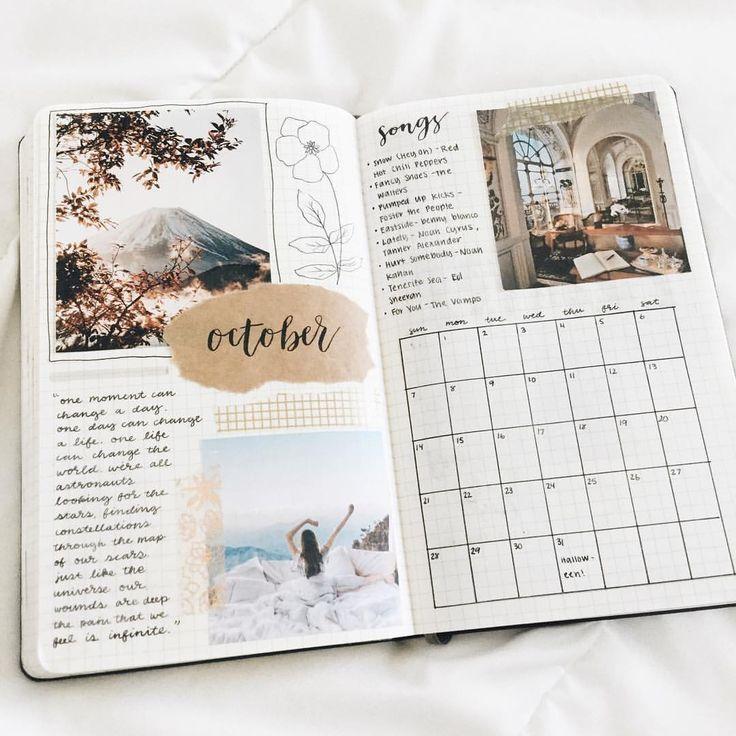 studygram studyblr studying bullet journal bujo planner ideas for weekly spreads..., #ArtSke...