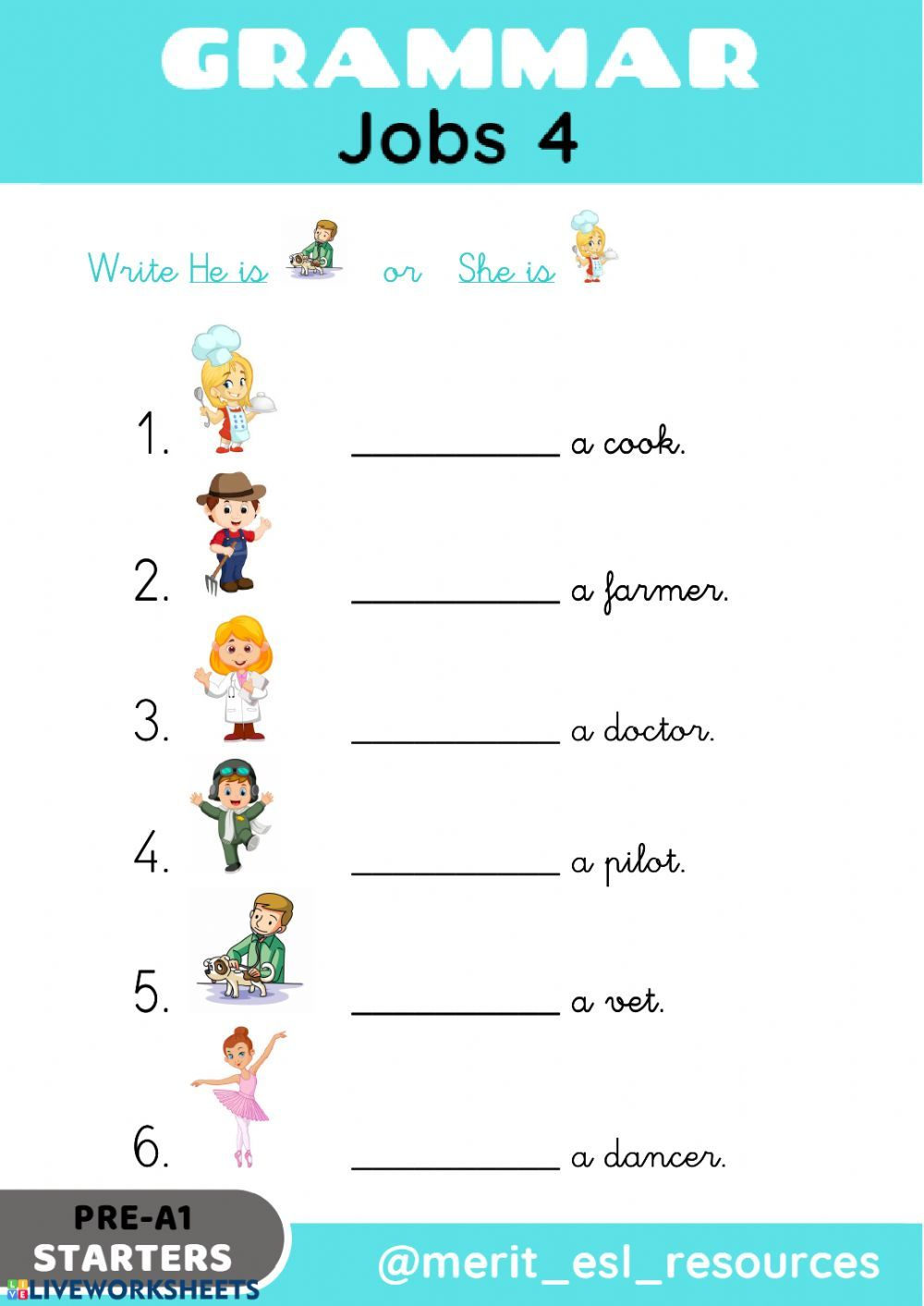 Jobs and occupations interactive and downloadable worksheet. You can do the  exercises onl…   English lessons for kids [ 1413 x 1000 Pixel ]