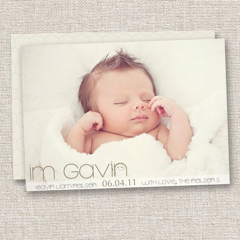 Modern Birth Announcement Baby Girl Announcement Baby Boy Birth – Etsy Baby Announcements