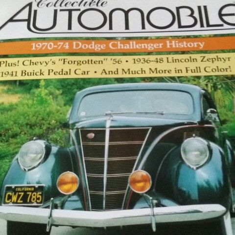 Collectible Automobile Magazine Beautiful Cars Interesting Articles