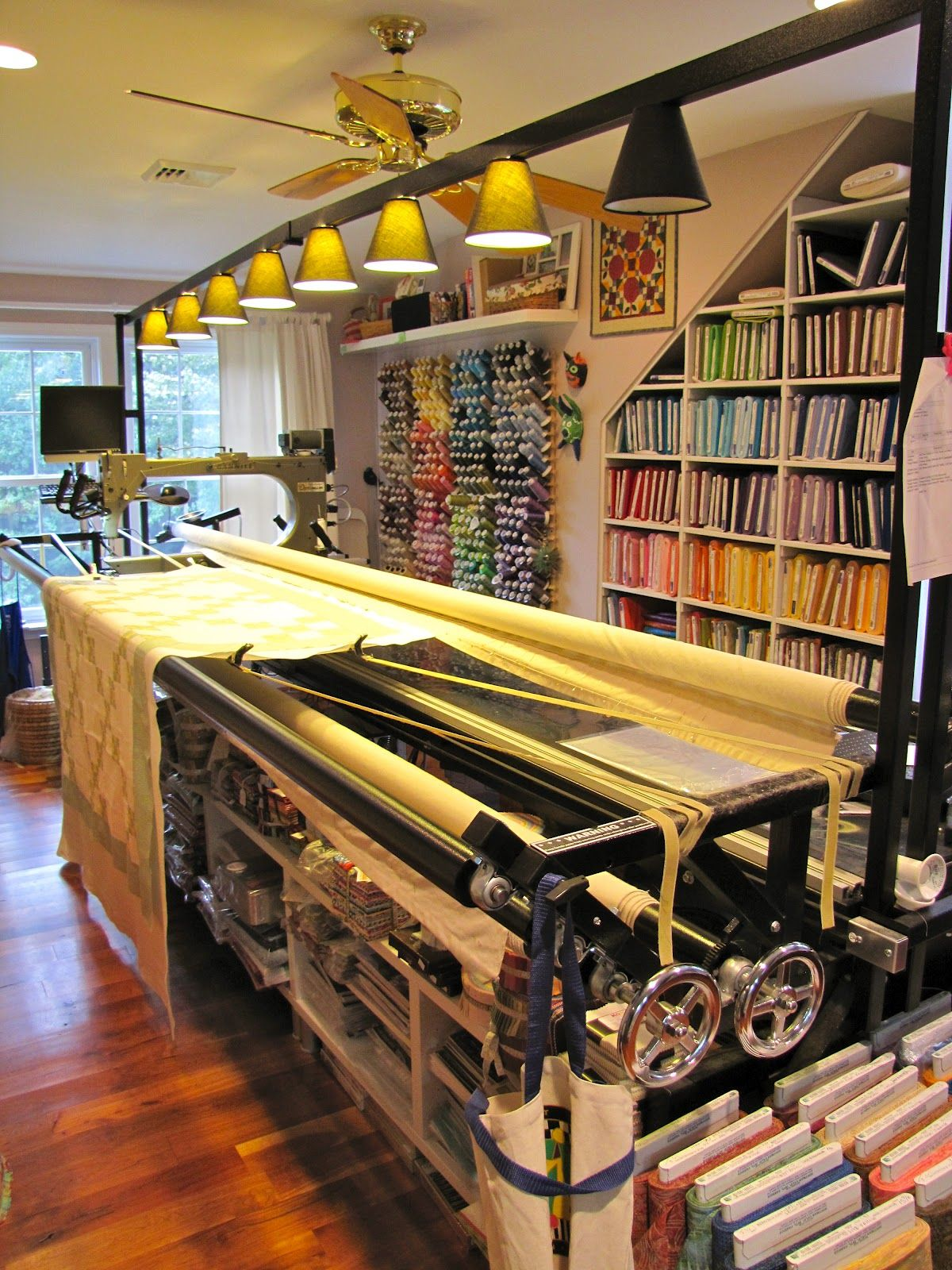 Designing A Sewing Room: Canton Village Quilt Works - This Is My Studio!