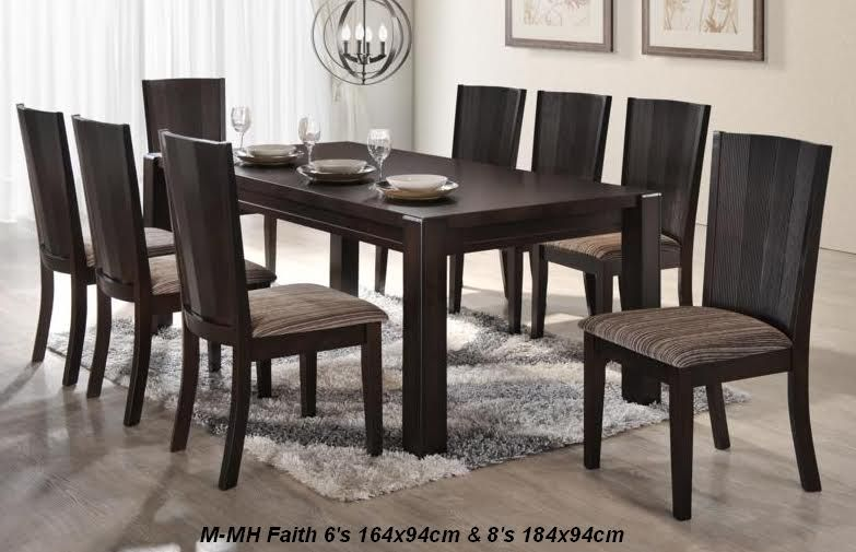 Faith 6 Seater Dining Set Trendy Furniture Design Modern